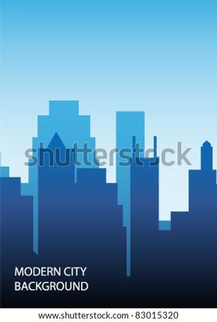 modern city background - stock vector