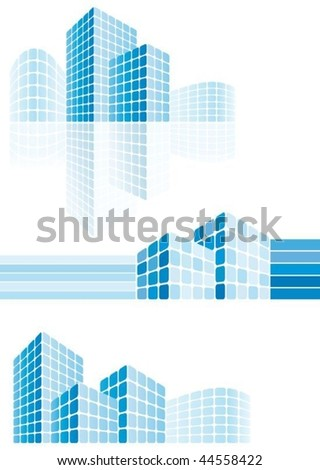 Modern city buildings - stock vector