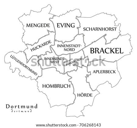 Dortmund Germany Stock Images RoyaltyFree Images Vectors - Germany map dortmund