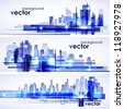 Modern cityscape concept background - stock vector