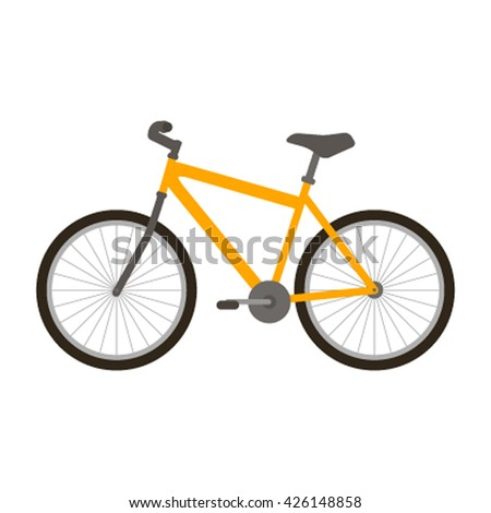 Modern classic bike icon in a flat style isolated on white background. vector illustration
