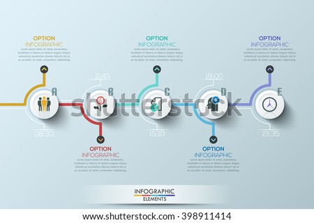 Modern clean business circle origami style timeline banner. Vector. can be used for workflow layout, diagram, number step up options, web design, infographics - stock vector
