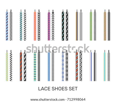 Shoelaces stock images royalty free images vectors shutterstock modern colored patterned shoelaces pairs icons set for casual sport sneakers selection white background isolated vector ccuart Choice Image