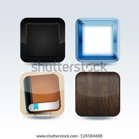 Modern colorful app icon set - stock vector