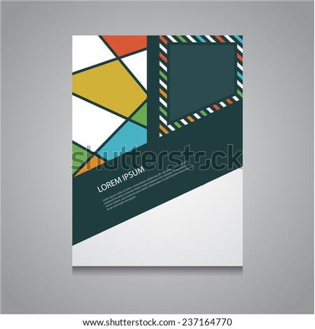 Modern colorful brochure design, Vector EPS10,  - stock vector