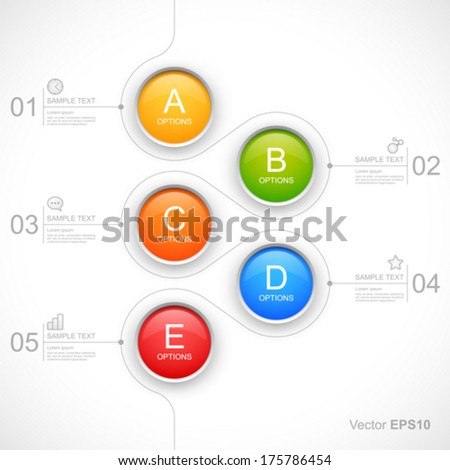 Modern colorful circles options. - stock vector