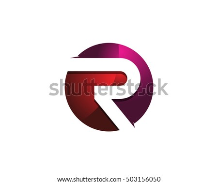 Modern colorful r letter 3d circle stock vector 503156050 shutterstock modern colorful r letter 3d circle negative space logo design template thecheapjerseys Images