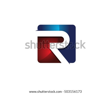Modern colorful r letter 3d square stock vector 2018 503156173 modern colorful r letter 3d square negative space logo design template thecheapjerseys Images