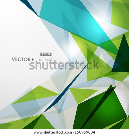 Modern colorful transparent triangles abstract background illustration. EPS10 vector with transparency organized in layers for easy editing. - stock vector