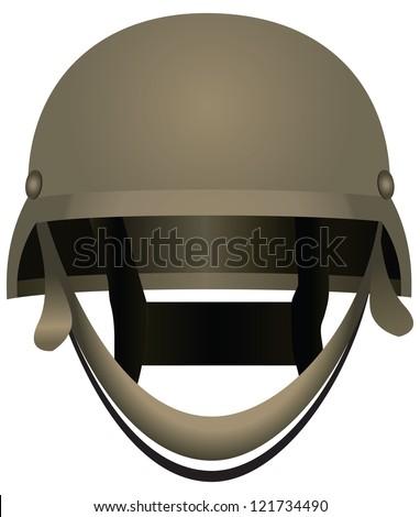 Modern combat helmets. Military equipment. Vector illustration. - stock vector