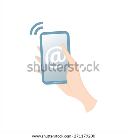 Modern communication device. - stock vector