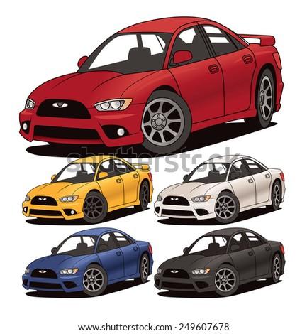 Modern Compact Car - stock vector
