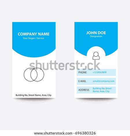 Modern concept app design business card stock photo photo vector modern concept app design business card app developer blue color colourmoves