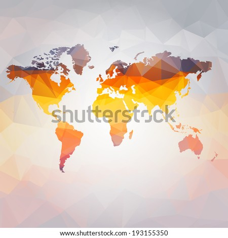 Modern concept of world map vector background - stock vector