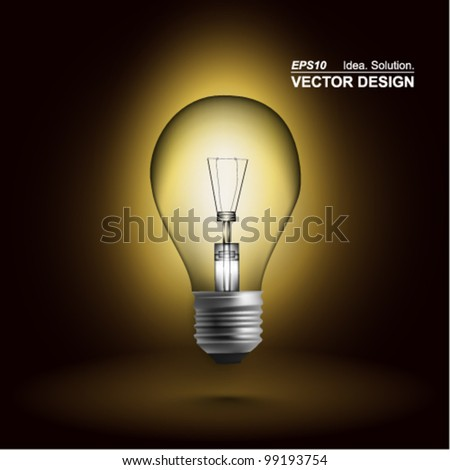 modern conceptual digital light bulb design