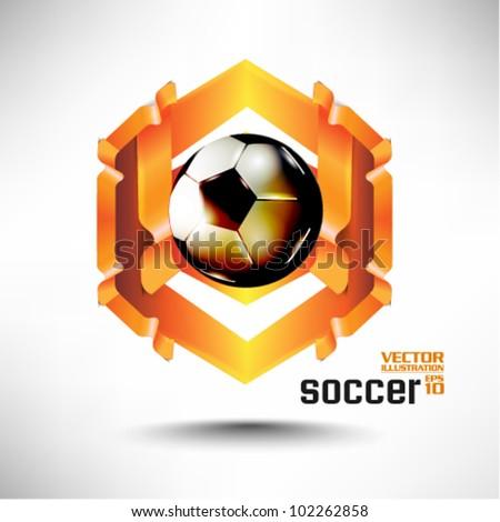 modern conceptual digital soccer vector design - stock vector