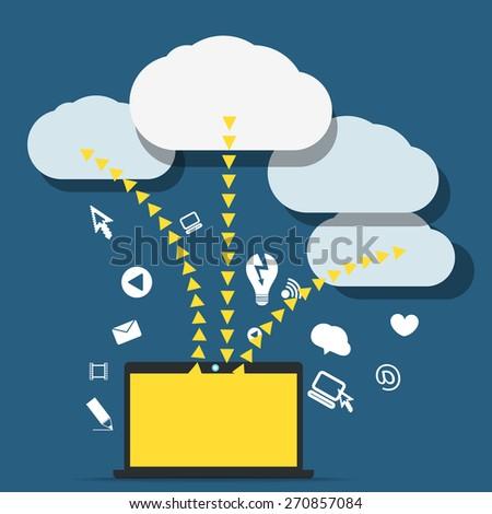 Modern conputer communication abstract scheme - stock vector