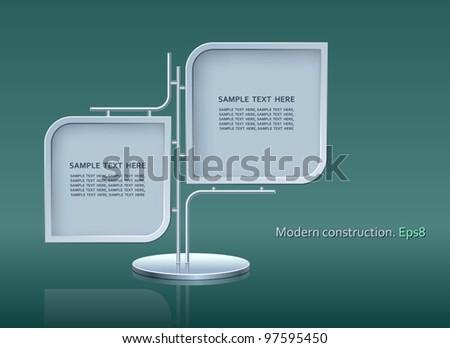 Modern construction, 3D, vector, design, Eps8 - stock vector