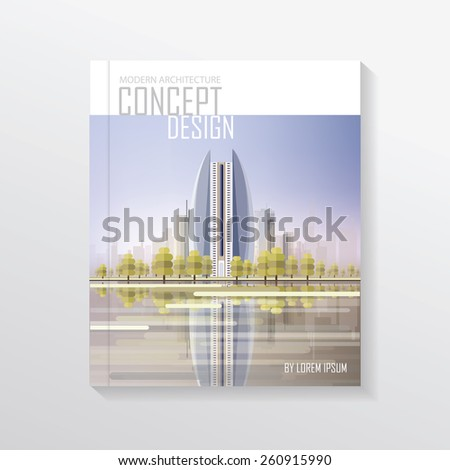 Modern Contemporary Real Estate Architecture Concept Stock Vector ...