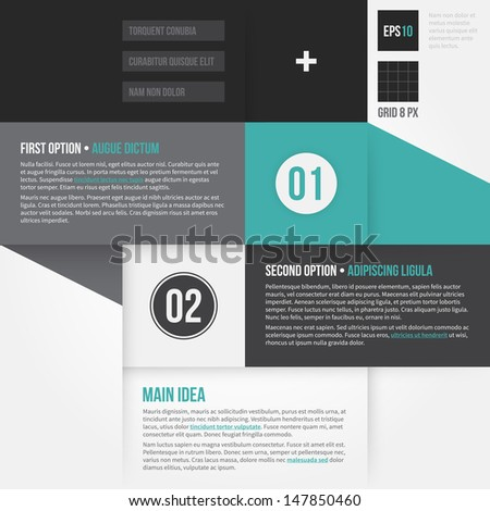 Modern corporate layout with 2 options. EPS10. - stock vector
