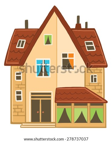 modern country house. vector image