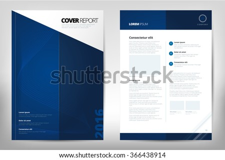 Modern Cover Annual Report Brochure - business Brochure - Catalog Cover, Catalog design, Cover design layout. A4. Cover front page and back page. Easy to use and edit. Vector Layout template. Vector - stock vector