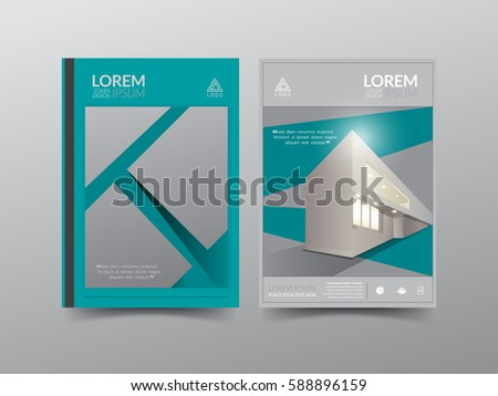 modern cover design template annual report stock vector (royalty, Presentation Front Page Template, Presentation templates