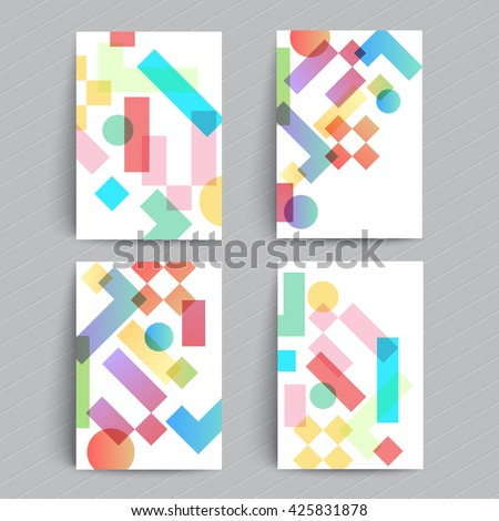 Modern covers design. Simple geometric shapes multiply. A4 format template for brochure, banner,poster,presentation etc. - stock vector