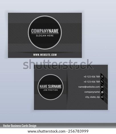 Modern Creative Black White Business Card Stock Vector - Black and white business card template