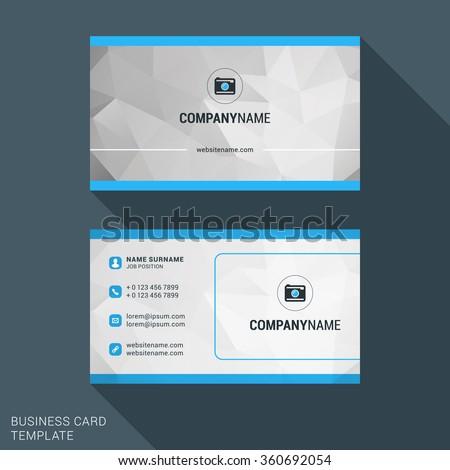 Modern Creative Business Card Template. Flat Design Vector Illustration. Stationery Design - stock vector