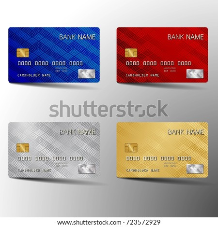 Modern credit card set template design stock photo photo vector modern credit card set template design with inspiration from the abstract vector illustration reheart Images