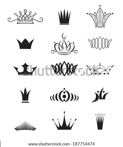 Modern crowns - stock vector