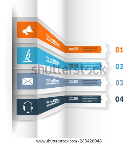 Modern 3d infographics for e-business, diagrams, charts, web sites, mobile applications, banners, corporate brochures, book covers, layouts, presentations etc. Vector eps10 illustration - stock vector