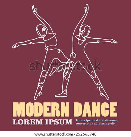 modern dance - stock vector