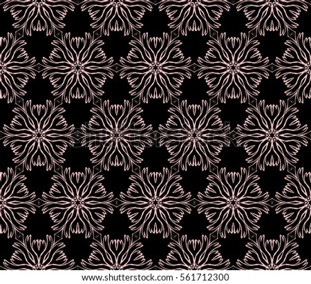 Modern Decorative Floral Pattern Seamless Vector Illustration Template For Wallpaper Invitation Decor
