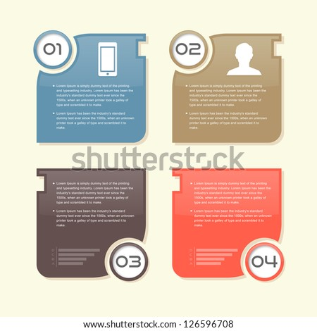 Modern Design banners color vector info graphic - stock vector