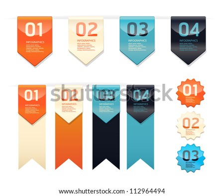 Modern   Design button  / can be used for infographics / numbered banners / horizontal cutout lines / graphic or website layout vector - stock vector