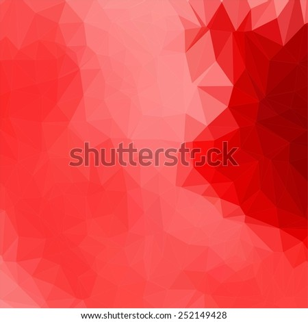 Modern Design. Colorful abstract geometric triangular low poly style vector illustration graphic background, red and pink - stock vector