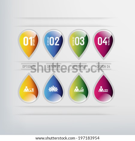 Modern design for business info graphic. Vector illustration.