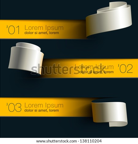 Modern design infographic template, vector illustration. - stock vector