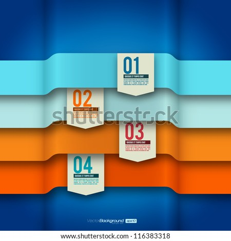 Modern Design Layout | Infographic Elements | EPS10 Vector Template - stock vector