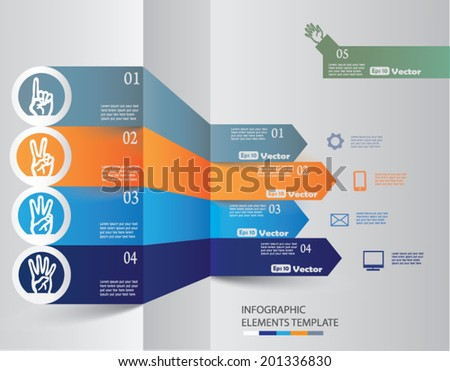 Modern Design Layout Infographic EPS10 Vector - stock vector
