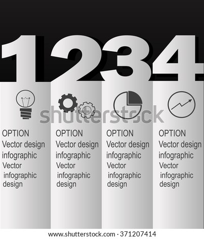 Modern Design Minimal style infographic template. Can be used for infographics ,numbered banners. Graphic or website layout vector - stock vector