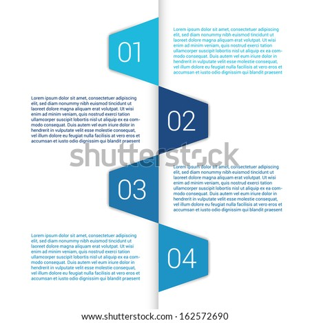 Modern Design Minimal style infographic template layout. Infographics, numbered banner, horizontal cutout lines, graphic or website layout vector with icons.  - stock vector