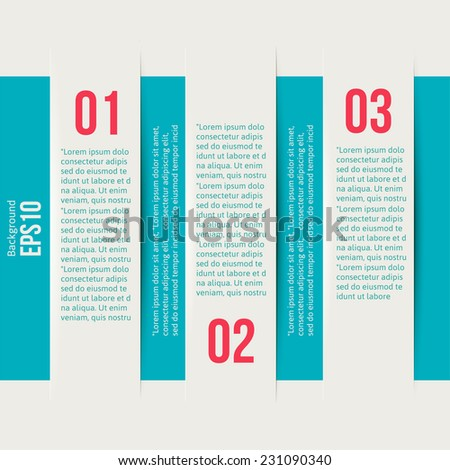 Modern Design Minimal style infographic template layout. Infographics, numbered banner, vertical cutout lines, graphic or website layout vector illustration - stock vector