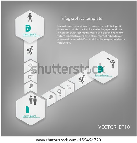 Modern Design Minimal style infographic template.vector illustration - stock vector