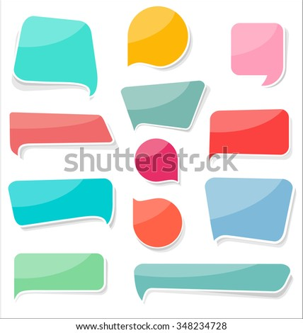 Modern design sale labels and badges collection - stock vector
