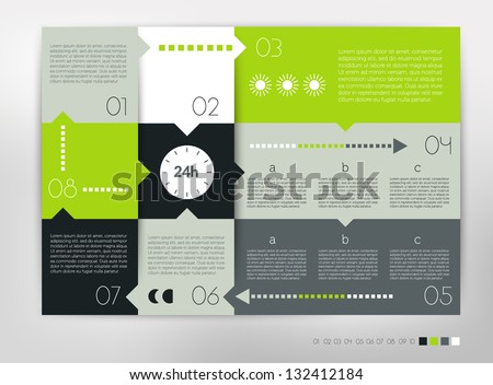 Modern design speech  diagram for infographic. Vector numbered banners template in cold colors. - stock vector