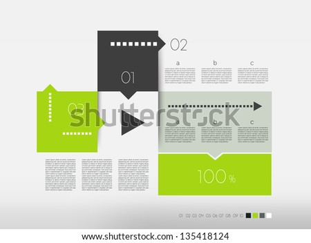 Modern design speech  diagram. Vector numbered banners template. Colour scheme board diagram for infographic. - stock vector