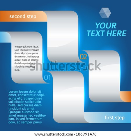 Modern Design style info-graphic template on deep blue background. Vector illustration eps 10 - stock vector